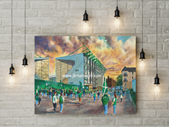 easter road  going to the match canvas a2 size